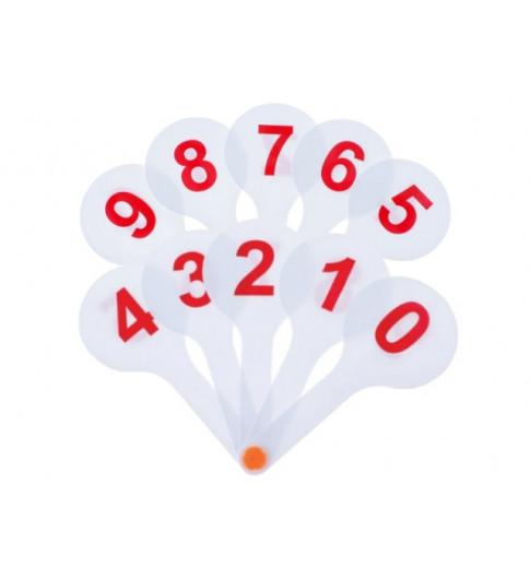 Веер цифры от 0 до 9