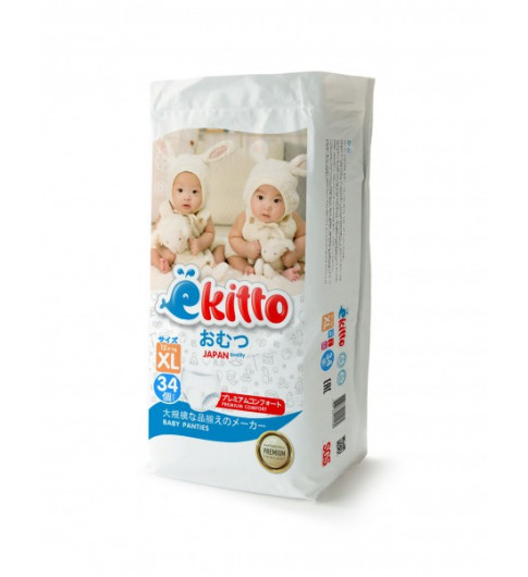 Yokito Подгузники-трусики Premium «ХL» (12+кг), 34 шт Йокито