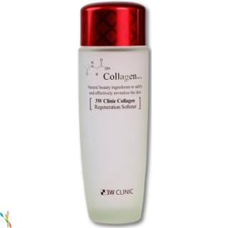 3W CLINIC КОЛЛАГЕН/Тоник для лица Collagen Regeneration Softener, 150 мл