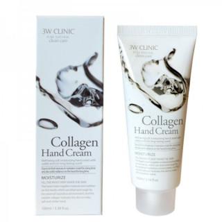 3W CLINIC Крем для рук КОЛЛАГЕН Collagen Hand Cream, 100 мл
