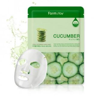 FarmStay Тканевая маска с экстрактом огурца, 23 мл - КОРЕЯ (тонизирующий, осветление, успокаивающий, освежение, сужение пор)