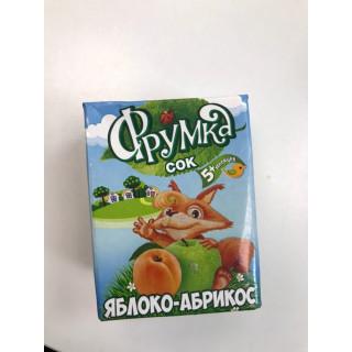 Фрумка Детский сок Яблоко Абрикос, 6мес+, 200 мл - без сахара