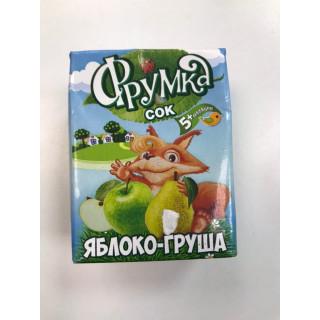 Фрумка Детский сок Яблоко Груша, 6мес+, 200 мл - без сахара