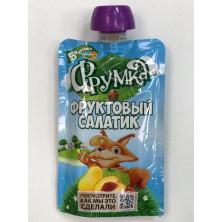 Фрумка Детское Пюре Фруктовый Салатик, 5мес+, 90 гр - без сахара, пауч