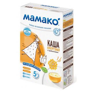 Мамако КУКУРУЗНАЯ каша с пребиотиками на козьем молоке, 6мес+, 200 гр.