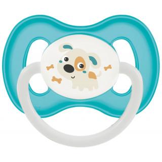 Canpol Babies Пустышка латекс Ночная круглая, 6-18 мес (синяя)