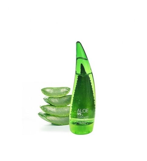 Holika Holika Универсальный несмываемый гель алоэ вера Aloe 99% Soothing Gel 55 мл (увлажняет кожу, убирает шелушения, воспаления и раздражения)