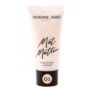 Vivienne Sabo  Матирующий тональный крем  тон 01  светло-бежевый, Вивьен Сабо