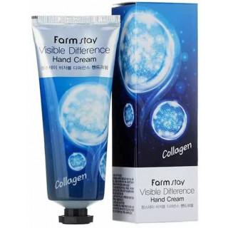 FarmStay Крем для рук и ногтей с Коллагеном, 100мл КОРЕЯ (успокаивает раздраженную и покрасневшую кожу.)