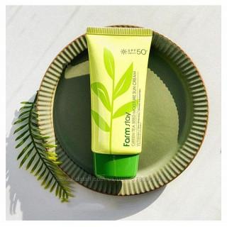 FarmStay Солнцезащитный крем для лица и тела с зеленым чаем, SPF 50+/PA+++ 70мл
