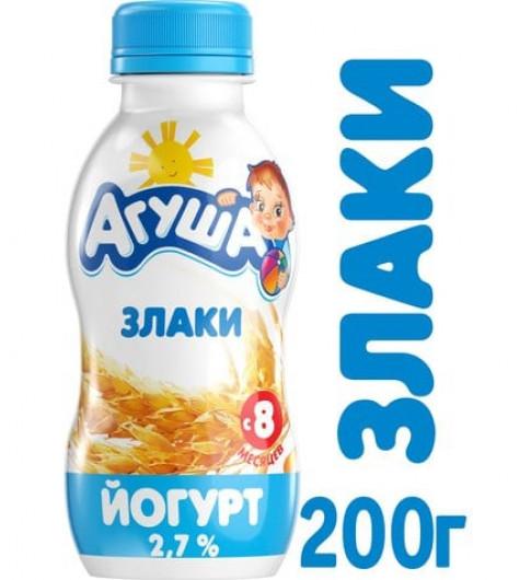Агуша Йогурт Злаки, 8мес+, 200 гр ДО 12 МАРТА