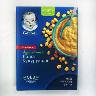 Gerber Каша Без молока Кукурузная, 6мес+, 180 гр (без сахара, без пальмового масла) Гербер