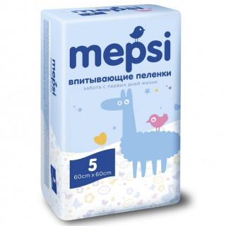 Mepsi Детские впитывающие пеленки, 60×60, 5 шт
