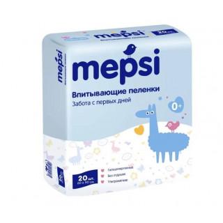 Mepsi Детские впитывающие пеленки, 60×90, 20 шn