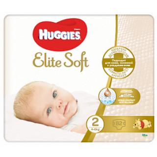 Huggies Подгузники Elite Soft 2 4-6кг) 82 шт (Хаггис)