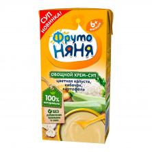 Фрутоняня Овощной крем-суп из Цветная Капуста, Кабачок, Картофель со сливками, 6мес+, 200мл