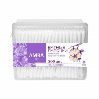 Amra Ватные палочки 200 шт прямоугольная упаковка