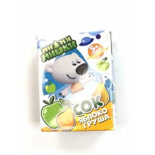 МиМиМишки Детский Сок Яблоко Груша, 200 мл, 5мес+ - без сахара