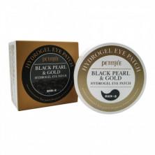 Petitfee гидрогелевые патчи для глаз, с золотом и черным жемчугом, 60 патчей (Black Pearl/Gold Hydrogel Eye Patch)