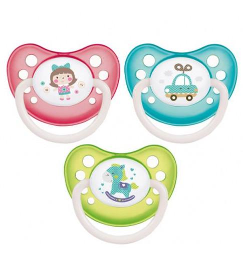 Canpol Babies Пустышка Латекс 6-18мес, ортодонт, Toys
