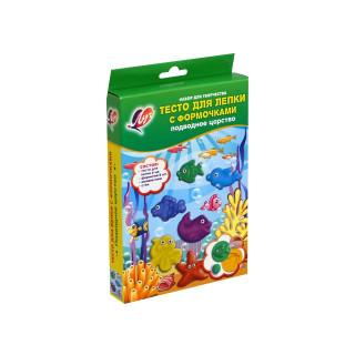 Тесто для лепки 6 цветов + 6 формочек Луч  Подводное Царство