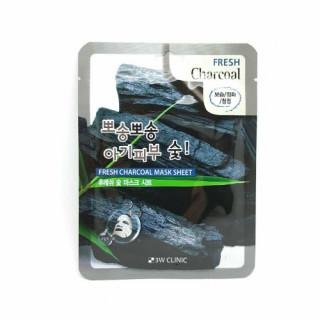 3W Clinic Тканевая маска для лица Древесный Уголь, 23 мл, 1 шт - КОРЕЯ (для жирной и комбинированной кожи)