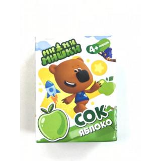 МиМиМишки Детский Сок Яблочный, 200 мл, 4мес+ - без сахара