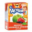 Агуша напиток яблоко-клубника-Арония 200мл с 6мес. - без сахара