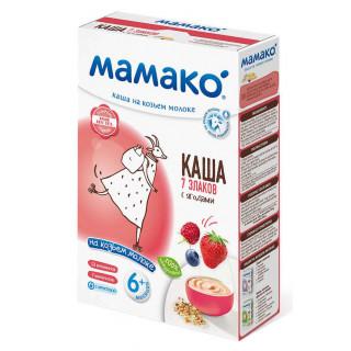 Мамако 7 ЗЛАКОВ С ЯГОДАМИ каша на козьем молоке, 6мес+, 200 гр.
