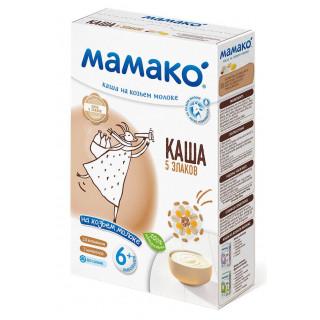Мамако 5 ЗЛАКОВ каша на козьем молоке, 6мес+, 200 гр.