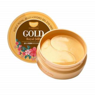 Petitfee гидрогелевые патчи для глаз, с золотом и маточным молочком, 60 патчей ( омолаживающие кожу вокруг глаз)