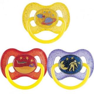 Canpol Babies Пустышка латекс круглая, 6-18 мес - светится в темноте