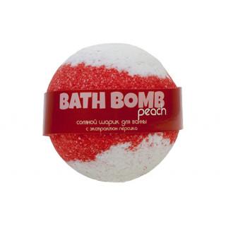 Savonry Соляной шарик для ванны Персик, 120 гр