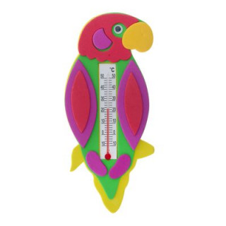 "Термометр детский на картоне  для комнаты  ""Попугай"""