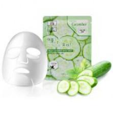 3W Clinic Тканевая маска с  экстрактом огурца, 23 мл, 1 шт - КОРЕЯ