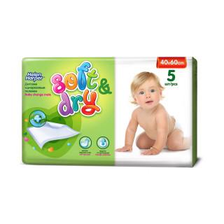 Helen Harper Детские впитывающие пеленки Soft Dry, 60*40 см, 5 шт