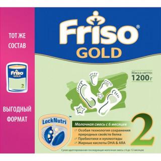 Friso (Фрисо) Gold Молочная смесь 2, 6-12мес, 1200 гр (без пальмового масла)