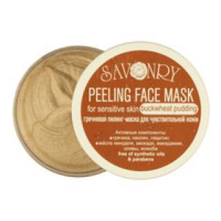 Savonry Гречневый пилинг маска для чувствительной кожи, 150 гр