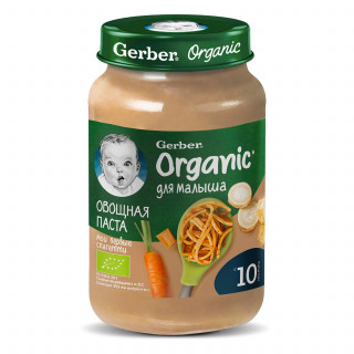 Gerber Organic Овощная паста 10мес+, 190 гр Гербер