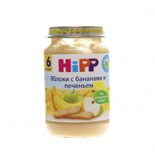 Hipp Яблоко Банан Печенье, 6мес+, 190 гр