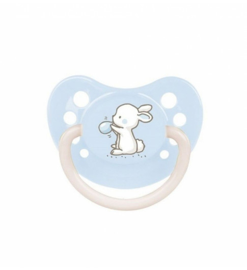 Canpol Babies Пустышка 0-6мес. силикон, ортодонт - голубая