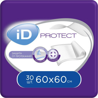 Пеленки ID Protect 60 х 60 см 30 шт