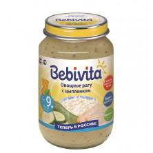 Bebivita Детское пюре из овощного рагу с цыпленком , 190 гр. 9мес+