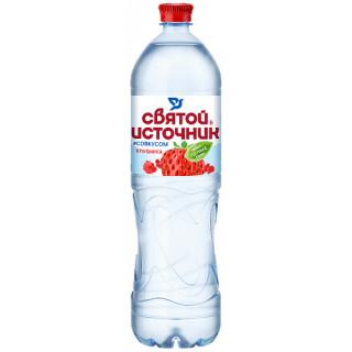 Святой Источник Вода питьевая с соком КЛУБНИКИ 1.5 л - негазированная
