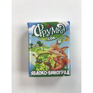 Фрумка Детский сок Яблоко Виноград, 6мес+, 200 мл - без сахара