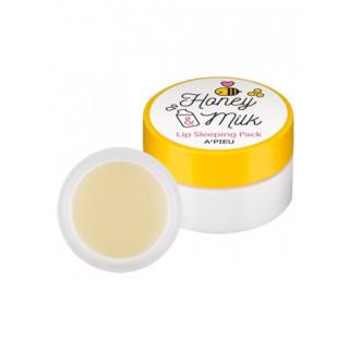 A'PIEU Ночная маска для губ с медом и молочными протеинами Honey & Milk Lip Sleeping Pack, 6,7 гр