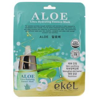 Ekel Увлажняющая маска с Алоэ 1шт Ultra Hydrating Essence Mask Aloe