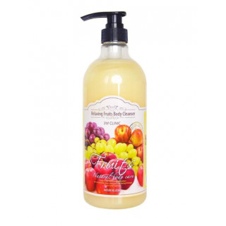 3W Clinic Гель для душа расслабляющий с ароматом Фруктов Relaxing Body Cleanser Fruits, 1000 мл