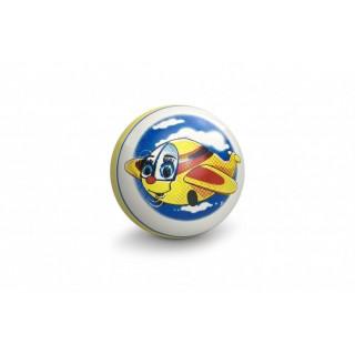 """Чебоксарский мяч 12,5см """"Яркие картинки"""", ручное окрашивание - самолет"""