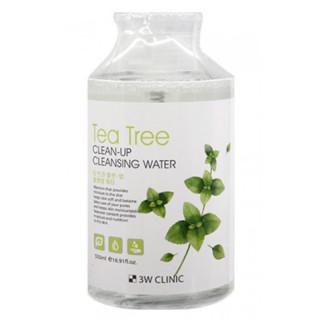 3W CLINIC Вода Мицелярная очищающая Чайное дерево, 500 мл для проблемной кожи